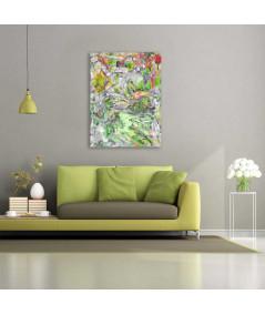Obraz plakat Grafika z czerwonymi tulipanami (1-częściowy) pionowy