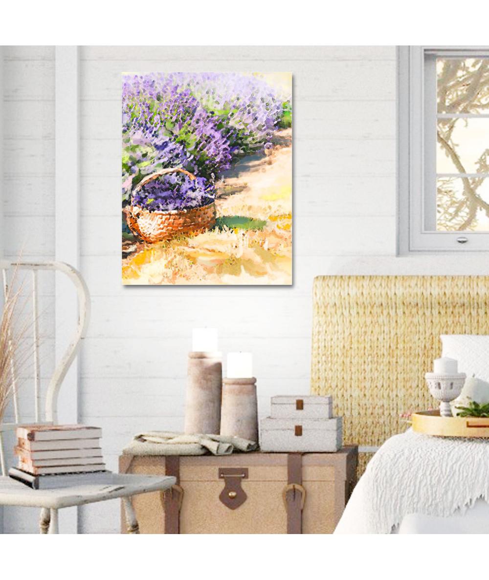 obrazy kwiaty Obraz na ścianę Akwarela lawenda (pionowy)