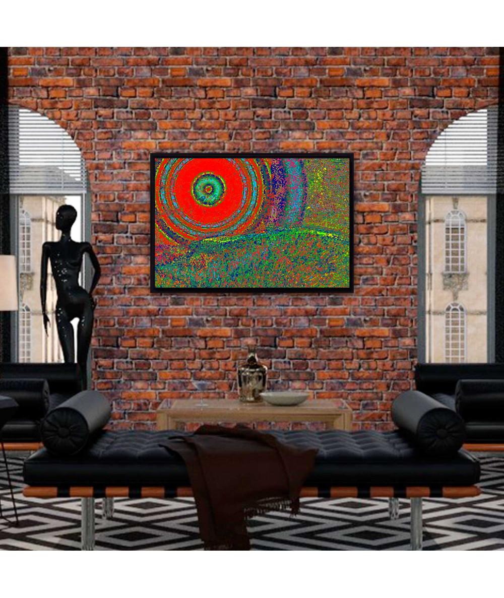 Obrazy pejzaże - Grafika na ścianę do salonu Mandala Prowansji