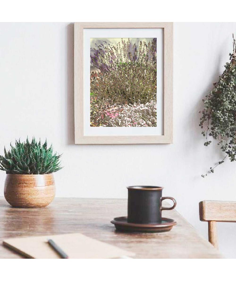 obrazy kwiaty Obrazek Lawenda vintage (1-częściowy) pionowy