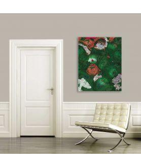 obazy kwiaty Grafika do salonu Róże grafika