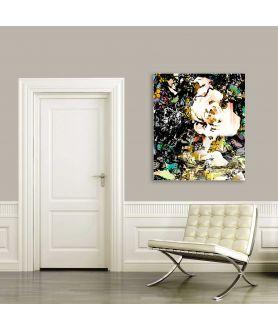 Obrazy kwiaty - Obraz drukowany Róże pop art