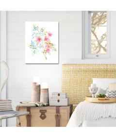 obrazy kwiaty Obraz Róża rysunek kolorowy (pionowy)