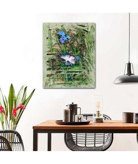 Obraz z zielenią Zielono mi (pionowy)