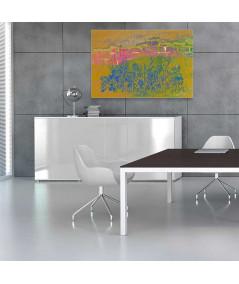Obrazy nowoczesne abstrakcja Różowe cegły