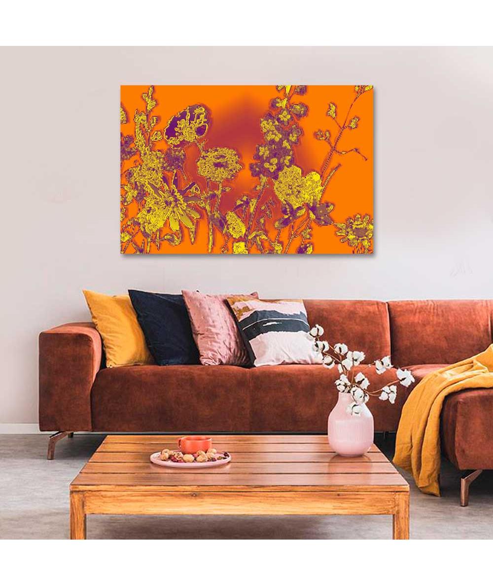 Obraz pomarańczowy Słoneczne kwiaty