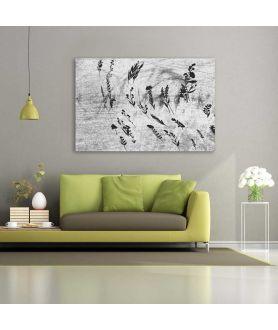Obraz abstrakcja szary na płótnie Ziółka