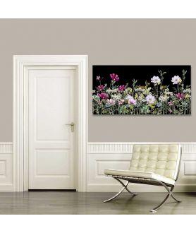 Obraz na płótnie Obrazy kwiaty na czarnym tle Wiosenna łąka akwarela