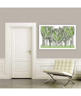 Miętowe obrazy do salonu Las miętowy