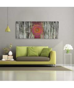 Nowoczesny obraz Brzozy we mgle (panorama)