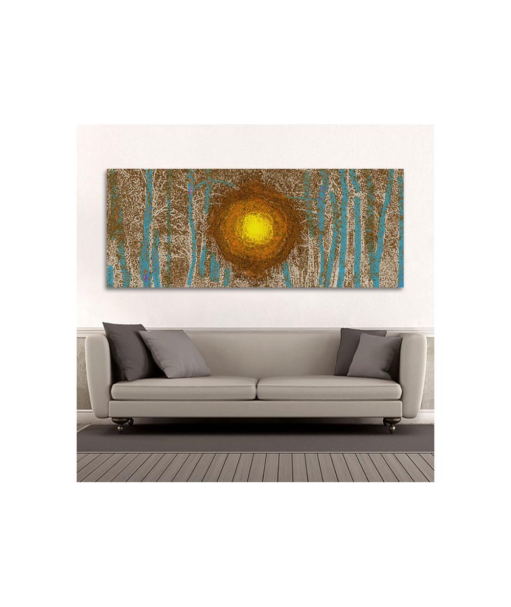 Obrazy las - Obraz malowany las Niebem malowany las