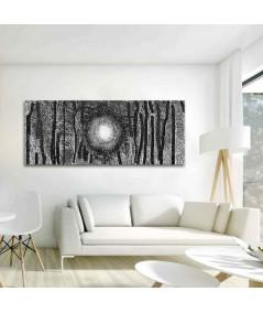 Obraz Brzozy czarno białe (panoramiczny)