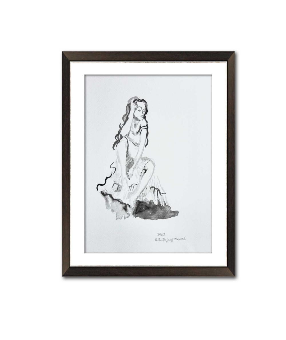 Grafika romantyczna kobieta...
