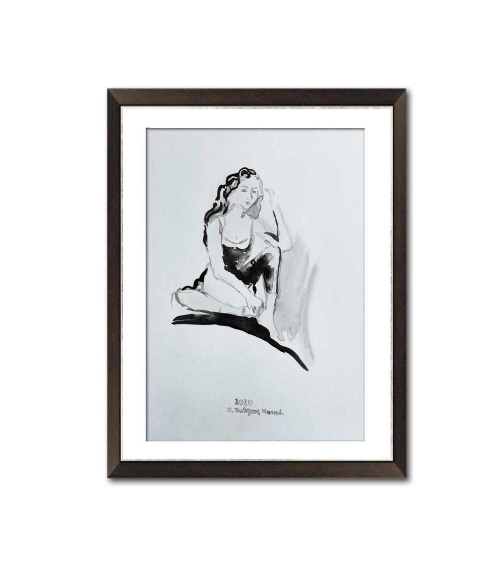 Grafika oczarowana kobieta...
