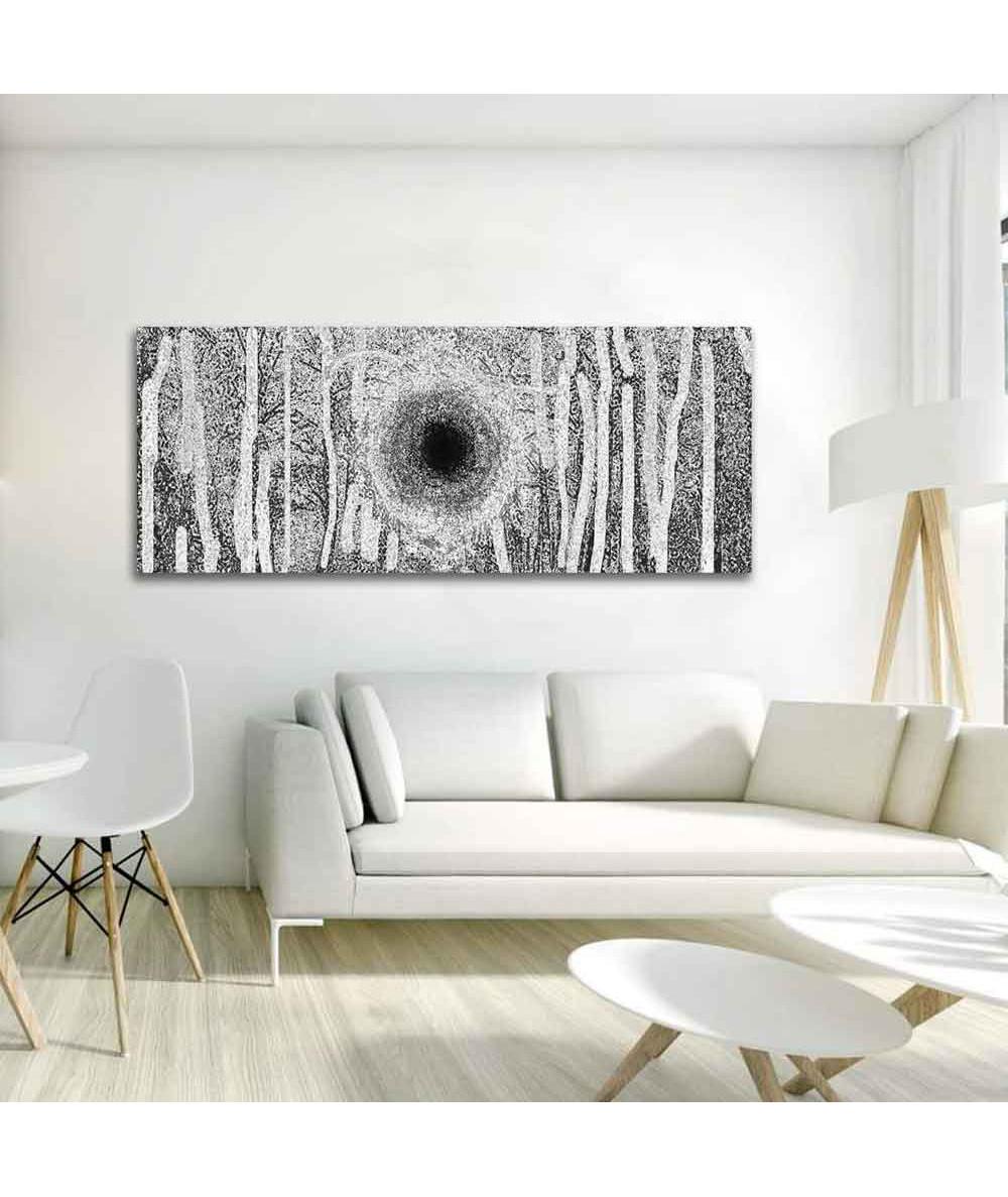 Obrazy brzozy Brzozy biało czarne (panoramiczny)