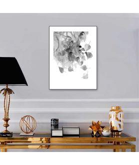 Obrazek liście Liście czarno białe
