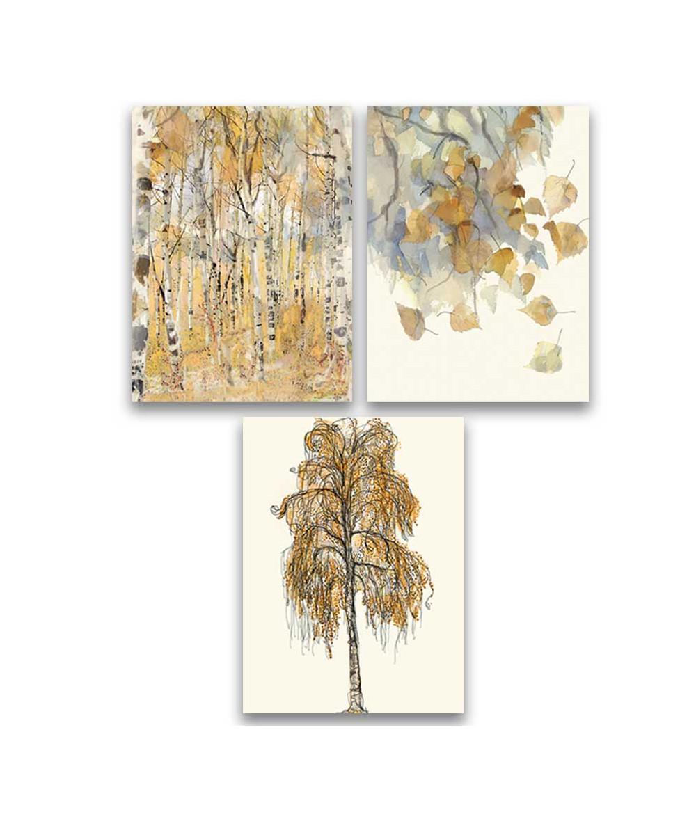 Tryptyk brzozy (obraz 3 częściowy)