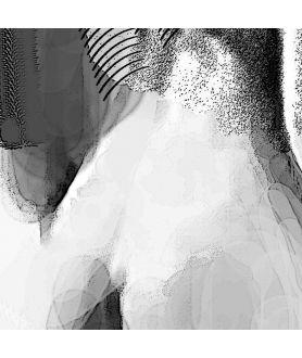 Obraz kobiecości czarno biały Kobieta z szalem