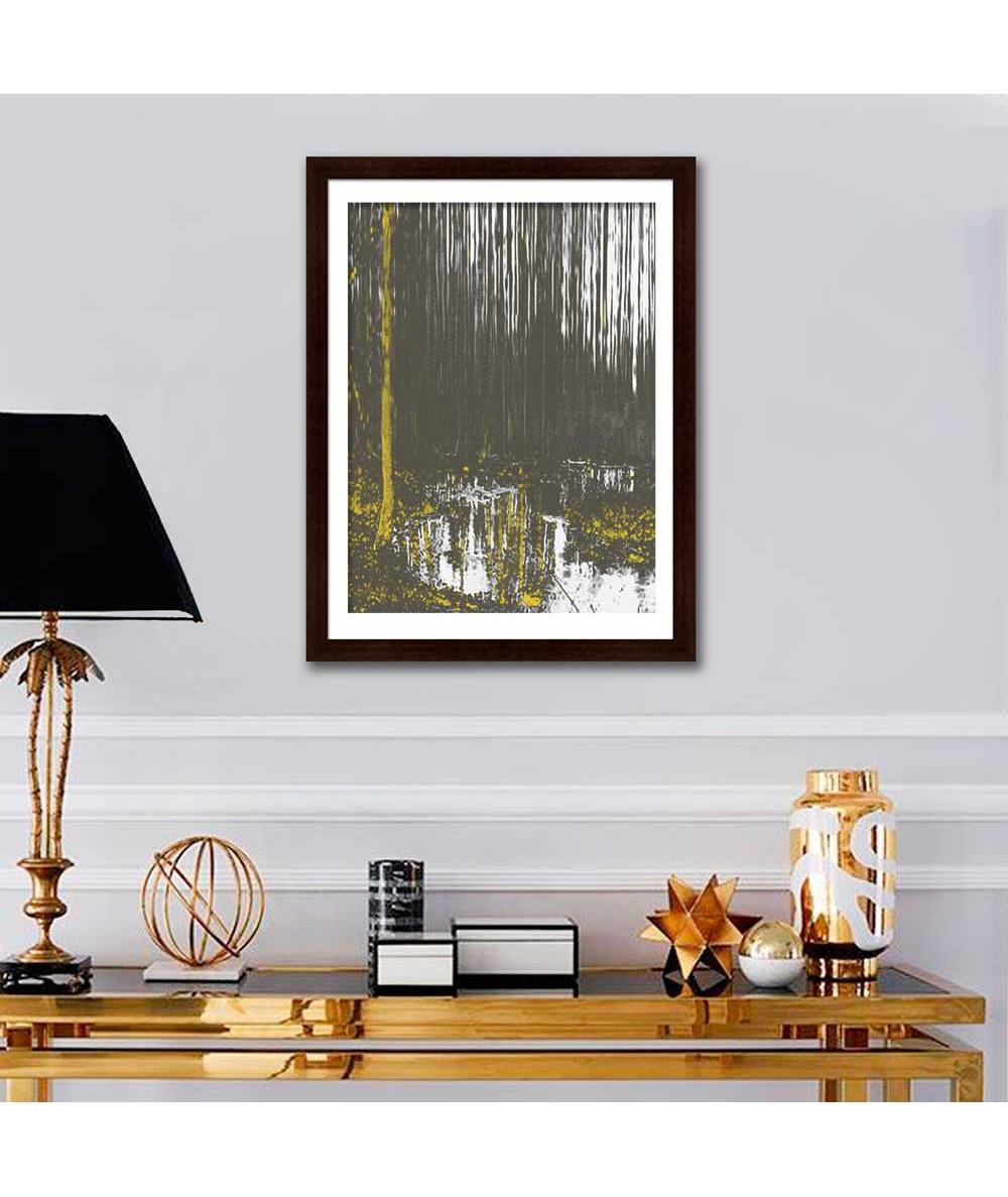 Obrazy las - Obraz na płótnie las Las i rzeka (pionowy)