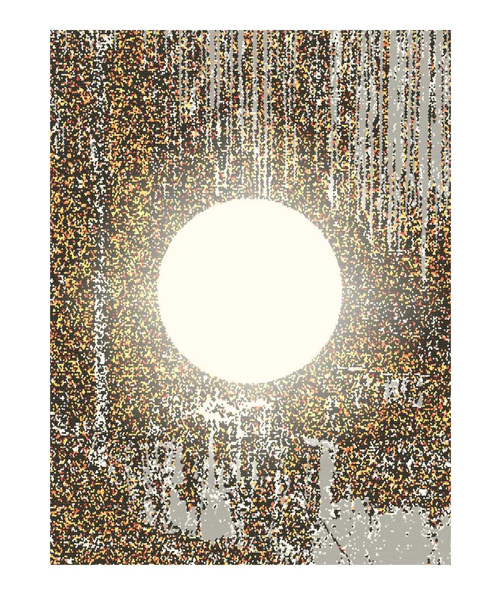 Obrazy abstrakcyjne - Obraz nowoczesny abstrakcja Pełnia księżyca