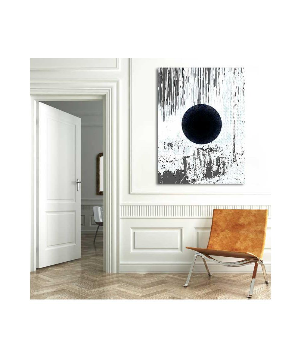 Nowoczesny obraz do salonu abstrakcja Zaćmienie księżyca