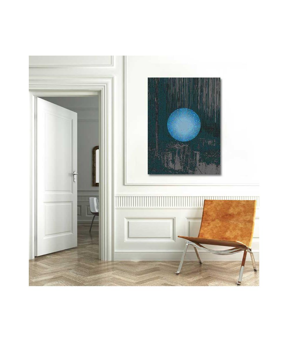 Księżyc grafika Niebieski księżyc