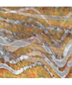 Obraz szary z żółtym Wiatr nad lasem