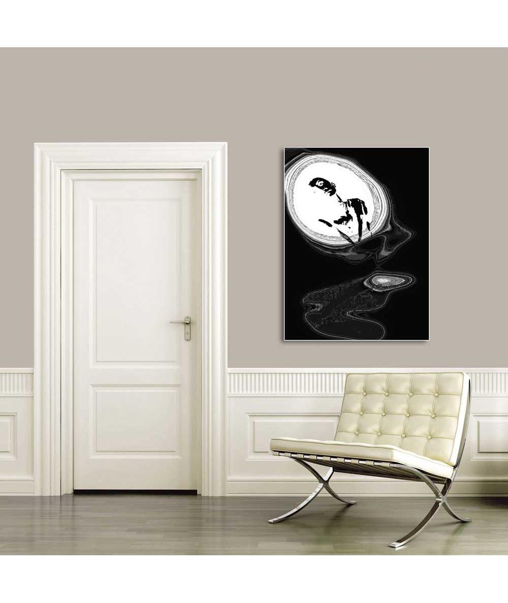 Obraz abstrakcja czarno biały Czarno białe lustro życia
