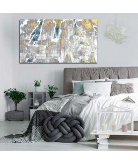 Obrazy abstrakcyjne - Obrazy szaro złote Szaro złota abstrakcja