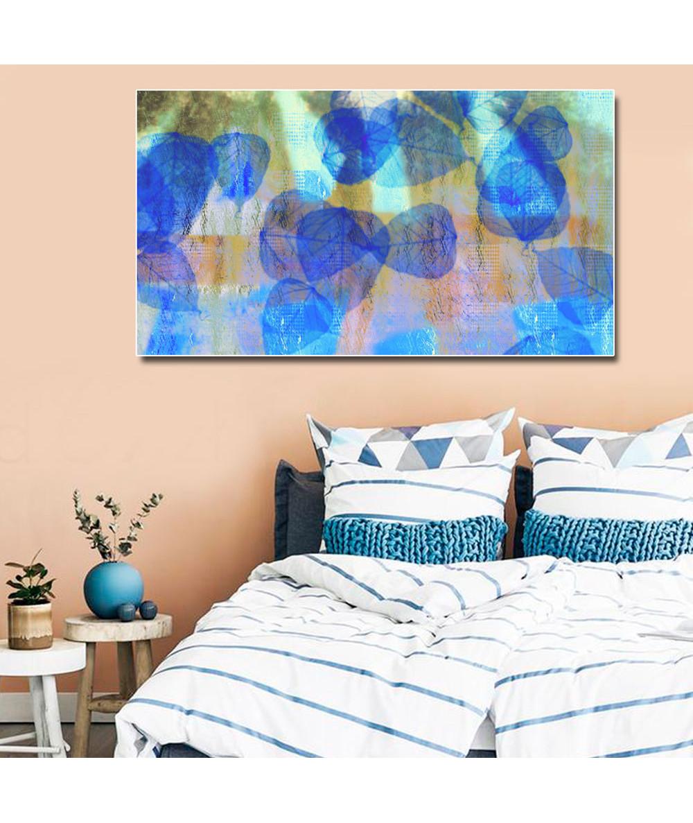 Niebieski obraz Niebieskie liście