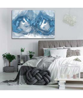 Obrazy abstrakcyjne - Niebieska grafika do sypialni Niebieska fantazja