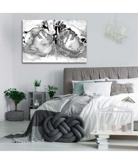 Obrazy abstrakcyjne - Abstrakcja liryczna Naga kobieta czarno biała