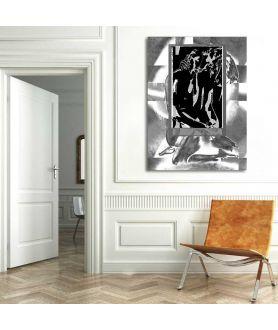 Grafika abstrakcyjna Czarno białe okno uczuć
