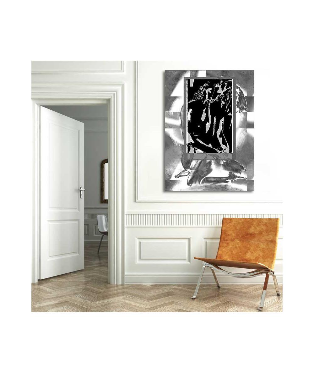Obrazy abstrakcyjne - Grafika abstrakcyjna Czarno białe okno uczuć