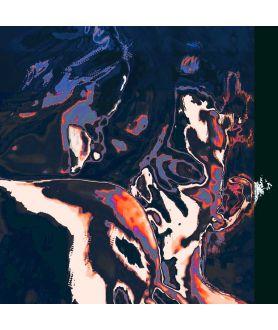 Nowoczesna abstrakcja Ogień nocy