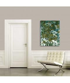 Malarstwo Akwarele - Obraz liście na płótnie Liście