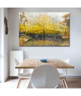 Drzewa obraz na ścianę Drzewa słońca