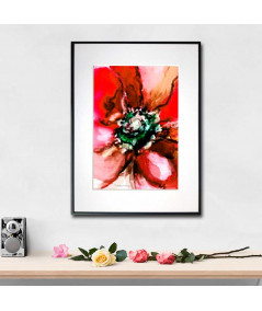 Plakat kwiat na ścianę Czerwony kwiat