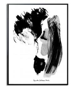 Plakat pocałunek Pierwszy pocałunek