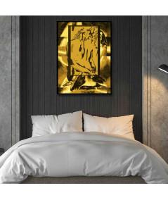 Plakat miłość w ramie Złote uczucia