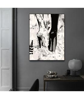 Obraz moda Plakat moda - Obraz kobiecy na ścianę Stukające obcasy