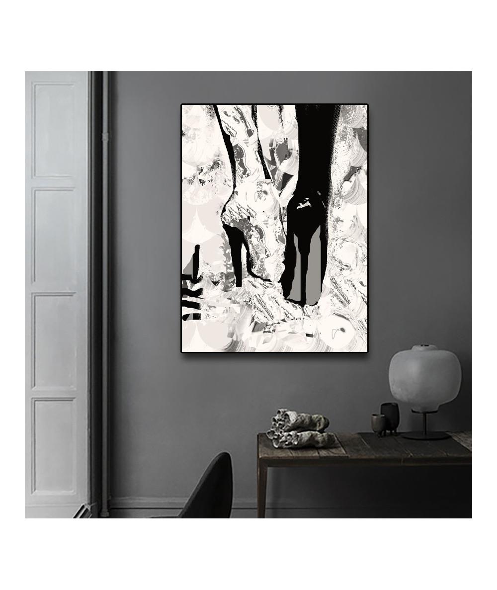 Obraz kobiecy na ścianę Stukające obcasy