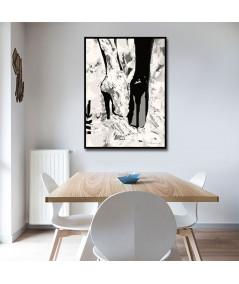 Plakat kobiecy w ramie Stukające obcasy
