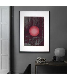 Plakat grafika na ścianę Czerwony księżyc