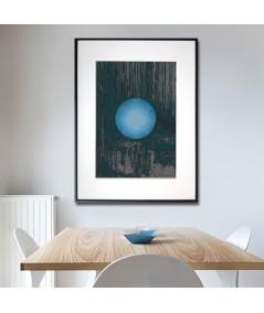 Grafika plakat w ramie na ścianę Niebieski księżyc