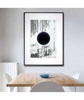 Grafika geometryczna w ramie Zaćmienie księżyca