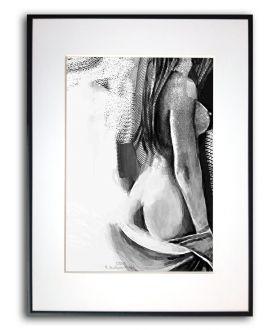 Plakat kobieta w ramie Kobieta z szalem