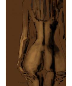 Plakat akt w ramie Kobieta tyłem