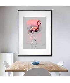 Plakat flaming w ramie Flaming spacer