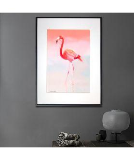 Plakat z flamingiem w ramie Flaming różowy